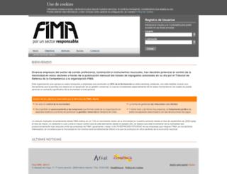 fima.es screenshot