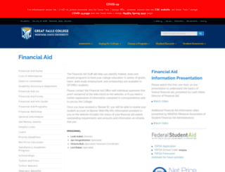 finaid.gfcmsu.edu screenshot