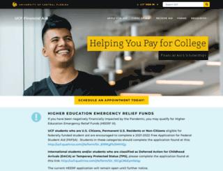 finaid.ucf.edu screenshot