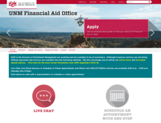 finaid.unm.edu screenshot