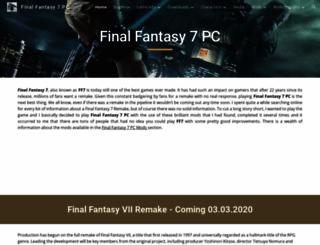 finalfantasy7pc.com screenshot
