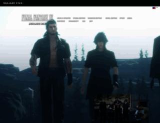 finalfantasyxv.com screenshot