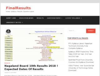 finalresults.in screenshot