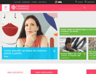 financasfemininas.uol.com.br screenshot
