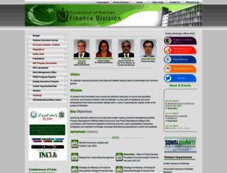 finance.gov.pk screenshot