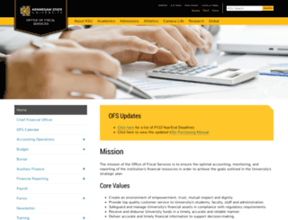 finance.kennesaw.edu screenshot