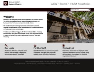 finance.tamu.edu screenshot