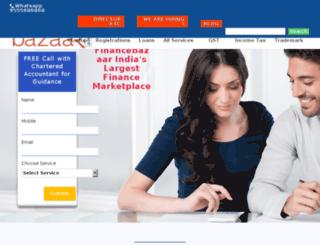 financebazaar.com screenshot