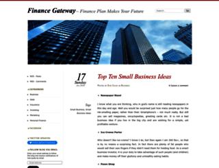 financegateway.wordpress.com screenshot