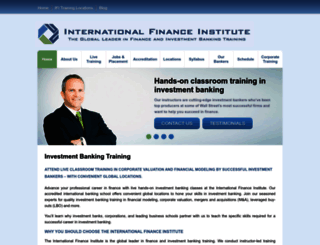 financeinstitute.com screenshot