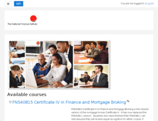 financeinstitute.ecampus.com.au screenshot