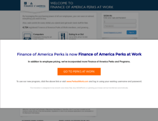 financeofamerica.corporateperks.com screenshot