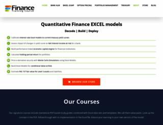financetrainingcourse.com screenshot