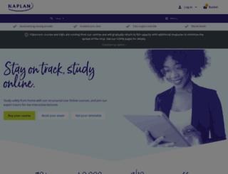 financial.kaplan.co.uk screenshot