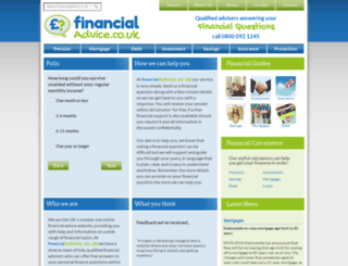 financialadvice.co.uk screenshot