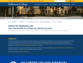 financialaid.fullcoll.edu screenshot