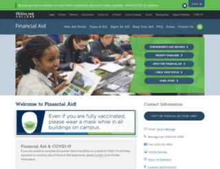 financialaid.highline.edu screenshot