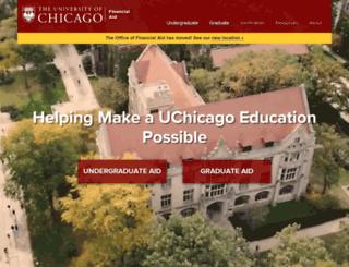 financialaid.uchicago.edu screenshot