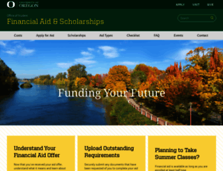 financialaid.uoregon.edu screenshot