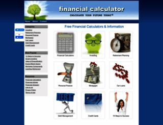 financialcalculator.org screenshot