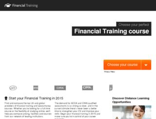 financialtraining.co.uk screenshot