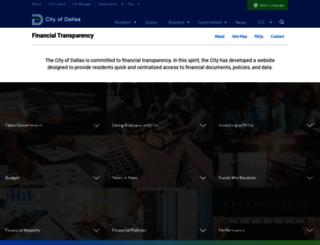 financialtransparency.dallascityhall.com screenshot