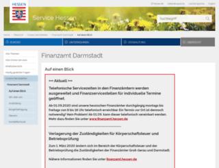 finanzamt-darmstadt.hessen.de screenshot