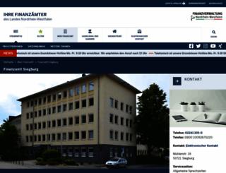 finanzamt-siegburg.de screenshot