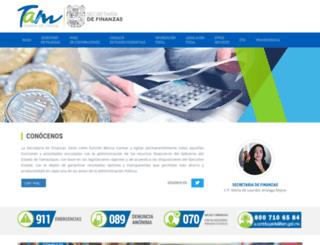 finanzas.tamaulipas.gob.mx screenshot