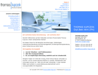 finanzmakler-kupczok.de screenshot