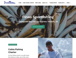 finaosportfishing.com screenshot
