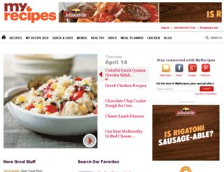 find.myrecipes.com screenshot