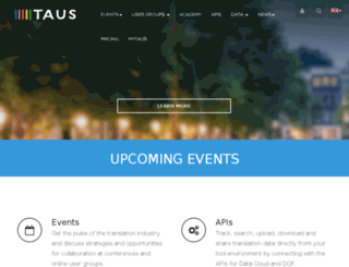 find.taus.net screenshot