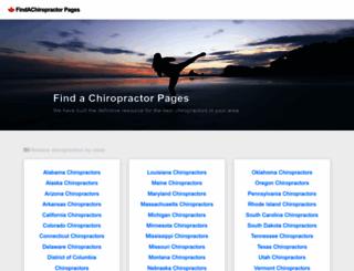 findachiropractorpages.com screenshot