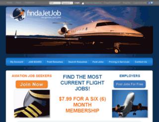 findajetjob.com screenshot