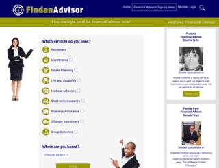 findanadvisor.co.za screenshot