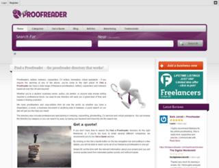 findaproofreader.co.uk screenshot