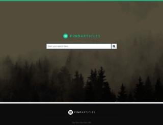 findarticles.com screenshot