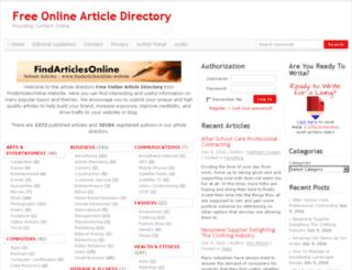 findarticlesonline.website screenshot