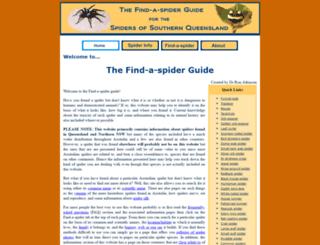 findaspider.org.au screenshot