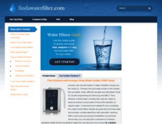 findawaterfilter.com screenshot