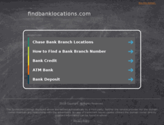 findbanklocations.com screenshot