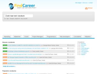 findcareer.be screenshot
