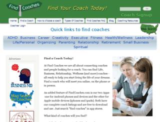 findcoaches.com screenshot