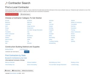 findcontractor.org screenshot