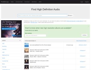 findhdmusic.com screenshot