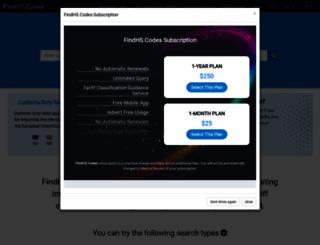 findhs.codes screenshot