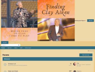 findingclayaiken.invisionzone.com screenshot