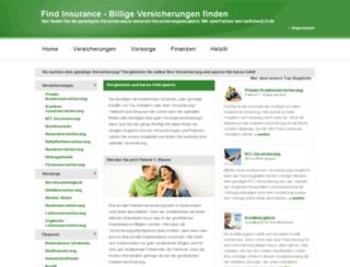 findinsurance.de screenshot