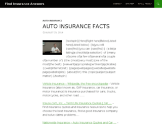 findinsuranceanswers.com screenshot